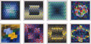 Victor Vasarely - Hommage A La Hexagone
